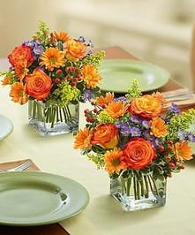 Fresh Flower Centerpiece, Autumn Flowers, Carithers Flowers Atlanta, Alpharetta, Lawrenceville, Marietta, Roswell
