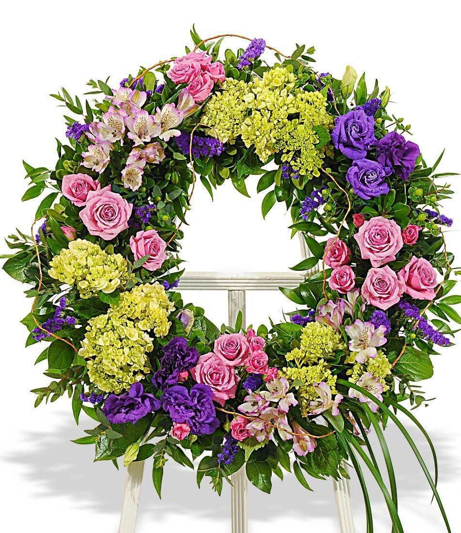 Elegant Funeral Flower Wreath, Florist Delivery, Carithers ...
