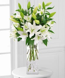 Majestic White Lilies