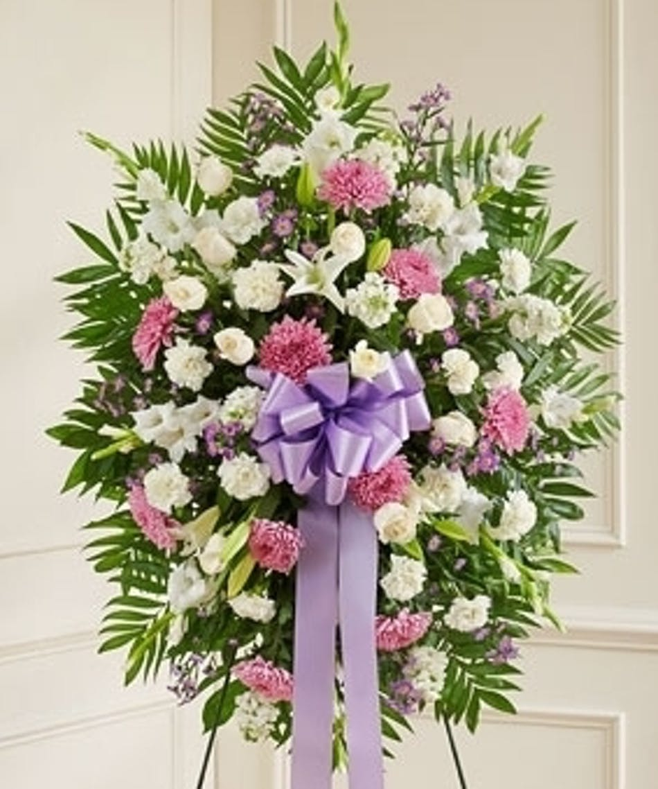 Standing Funeral Spray In Lavender