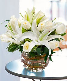 Oriental Lilies & Roses
