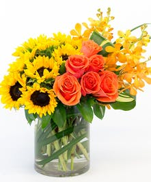Sunflowers and Roses Atlanta Flower Arrangement