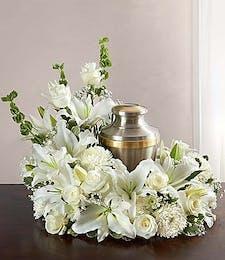 The Elegant Cremation Wreath in White