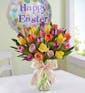 30 Easter Tulips w/ Happy Easter Mylar
