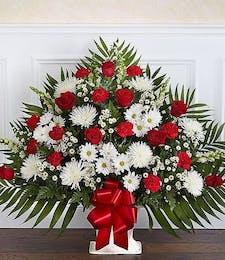 Red & White Sincere Sympathy Basket