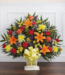 Heartfelt Sympathy Basket in Fall Colors