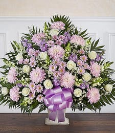Lavender & White Tribute Basket