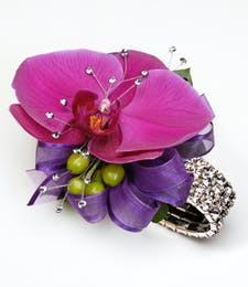 Purple Phaleonopsis Orchid Corsage