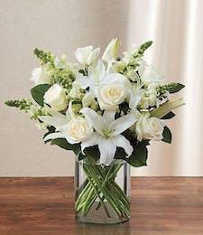 White Sympathy Garden Vase