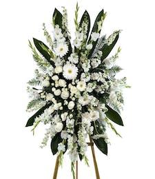 White Garden Elegance Standing Spray