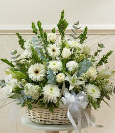 Garden Basket in White