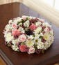 Pink & White Cremation Wreath (Small)