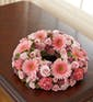 Pink Cremation Wreath (Small)
