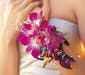 Variegated Dendrobium Orchid Wrist Corsage w/ accent Pearls