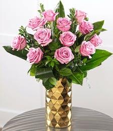 Dozen Long-Stem Lavender Roses