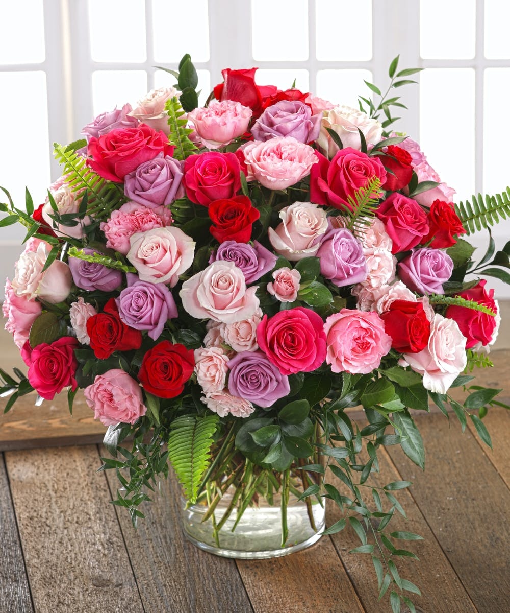 The Heart And Soul Rose Bouquet Features 100 Luxury Roses By