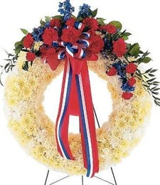 Patriotic - Red White & Blue Wreath