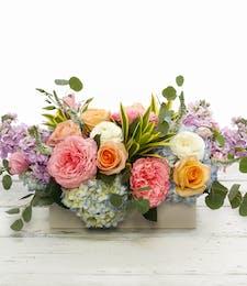 Pastel English Garden Table Centerpiece