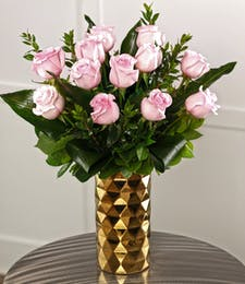 Dozen Tiffany Pink Roses