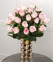 Two Dozen Tiffany Pink Roses