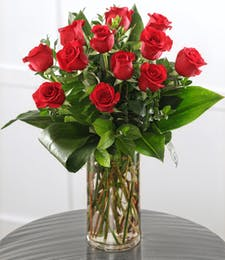 Dozen Long-stem Red Roses