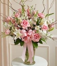 Sympathy Garden Vase in Pink