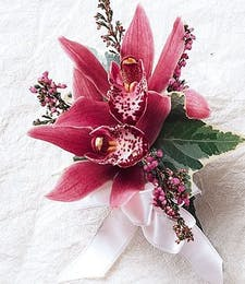 Poetry Pink Orchid Wrist Corsage