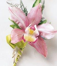 Pink Mink Cymbidium Orchid Corsage